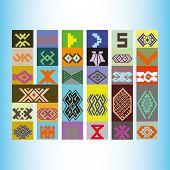 foto of tatar  - Tatar ornament motif  - JPG