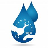 picture of plumbing  - drop of water plumbing repairs for vector - JPG