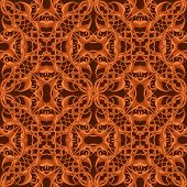 pic of fantastic  - Bright Orange Fantastic Seamless Pattern with fantastic leaves in autumn colors - JPG