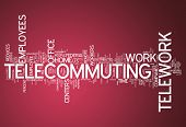 image of telecommuting  - Word Cloud Image Graphic with Telecommuting related tags - JPG
