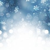 stock photo of snow border  - Winter Holiday Snow Background - JPG