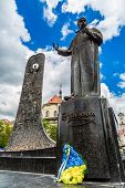Постер, плакат: Taras Shevchenko Monument In Lviv Ukraine