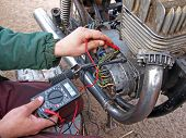 pic of dynamo  - Checking the motorcycle engine generator with multimeter - JPG