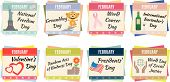 image of groundhog day  - Sheets of a calendar - JPG
