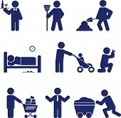 stock photo of power-shovel  - Set of icons on a theme of  - JPG