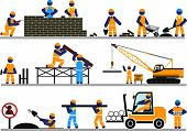 pic of road construction  - Construction of roads and buildings - JPG