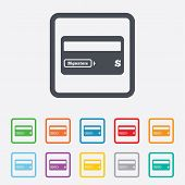 picture of debit card  - Credit card sign icon - JPG