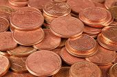 foto of copper coins  - Close up of full coins copper group - JPG