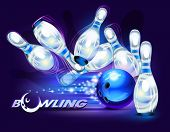 stock photo of bowling ball  - Bowling game - JPG