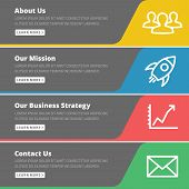 stock photo of strategy  - Flat design concept for website template  - JPG