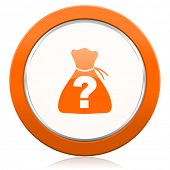 picture of riddles  - riddle orange icon   - JPG