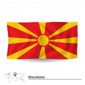 picture of macedonia  - Flag of Macedonia  - JPG