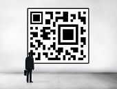 pic of qr codes  - Businessman Encoding QR Code Planning Concept - JPG