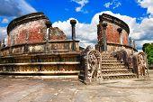 foto of polonnaruwa  - ancient Polonnaruwa temple  - JPG