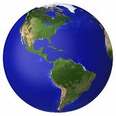 image of planet earth  - Earth planet globe map - JPG