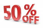 picture of 50s  - 50 percent sale discounton a white - JPG