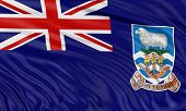 foto of falklands  - 3D Falkland Islands flag with fabric surface texture - JPG