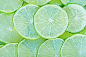 stock photo of lime  - fresh lime sliced of fresh lime lime background - JPG