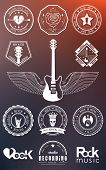 Постер, плакат: Set Badges Of Rock Music And Rock And Roll
