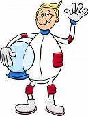 pic of spaceman  - Cartoon Illustration of Spaceman or Astronaut in Spacesuit - JPG