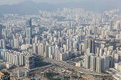 stock photo of population  - View of densely populated area in Kowloon - JPG