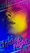 picture of ladies night  - Ladies night flyer design - JPG