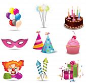 picture of birthday party  - Party icon - JPG