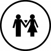foto of emo-boy  - love couple symbol - JPG
