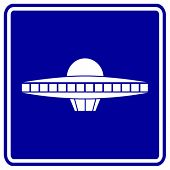 image of ovni  - alien ship sign - JPG