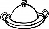 picture of serving tray  - serving tray with dome lid - JPG