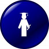 foto of graduation cap  - graduate button - JPG