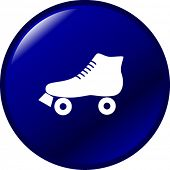 pic of roller-skating  - roller skate button - JPG