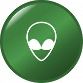 stock photo of ovni  - alien button - JPG