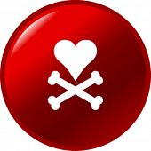 heart and bones button