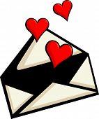 stock photo of long distance relationship  - love letter - JPG