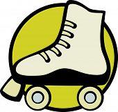 stock photo of roller-derby  - roller skate - JPG