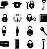 Постер, плакат: набор символов и безопасности