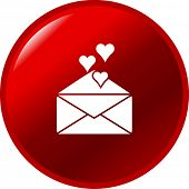 stock photo of long distance relationship  - love letter button - JPG