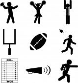 football mini symbols set