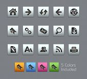 Web Navigation // Satinbox Series -------It includes 5 color versions for each icon in different lay
