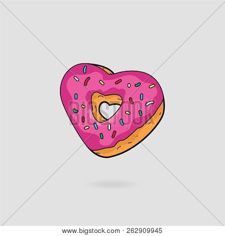 Heart Shaped Donut Simpsons Theme
