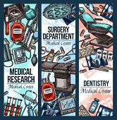 Medical Research Center, Dentistry And Surgery Or Treatment Therapy. Vector Cardiology, Orthopedics  poster