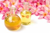 image of massage oil  - Massage oil in tropical spa - JPG