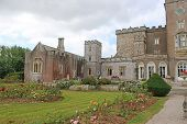 Exterior Of Powderham Castle In Devon, England poster