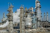 A complex oil refinery for making gasoline