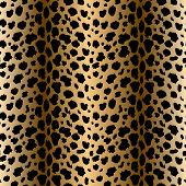 Vector Seamless Pattern With Leopard Fur Texture. Repeating Leopard Fur Background For Textile Desig poster