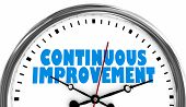 Continuous Improvement Always Getting Better Clock 3d Illustration poster
