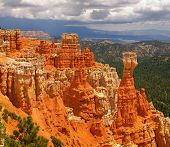Vista of Bryce Canyon National Park in Utah poster