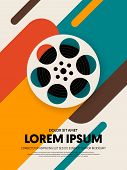 Movie And Film Poster Template Design Modern Retro Vintage Style. Can Be Used For Background, Backdr poster