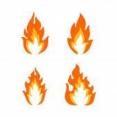 Fire Icon Vector, , Fire Vector Image, Fire Icon Picture, Fire Icon Flat, Fire Icon App, Fire Icon I poster